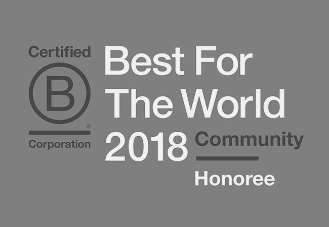 B Corp 2018 Honoree