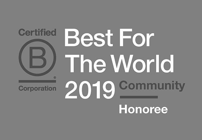B Corp 2019 Honoree